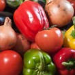 Closeup of mixed vegetables — Stockfoto