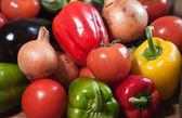 Closeup of mixed vegetables — Stock Photo