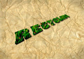 Recycling 3D on recycled paper — Stock Photo