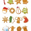 Stock Vector: Delicious Christmas Cookies