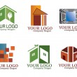 Vector de stock : Real estate logo set