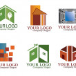 Real estate logo set — 图库矢量图片