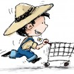 Farm Boy Shopper — Stock Vector #8352867