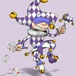 Stock Photo: Harlequin Purple & White