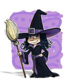 Little Witch. — Stock Photo
