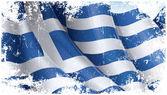 Greek Flag Grunge — Stock Vector