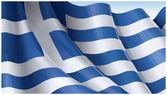 Waving Greek flag. — Stock Vector
