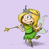 Little Fairy Girl — Stock Photo