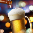 Beer with lights — Stock Photo