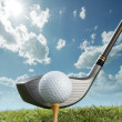 Stock Photo: Tee off