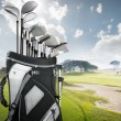 Golf equipment at the course — Stock Photo