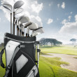 Golf equipment at the course — Stock Photo #8989961
