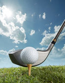 Tee off — Stock Photo