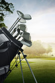 Golf equipment on the course — Stock Photo