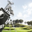 Stock Photo: Golf equipment on the course