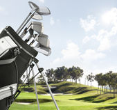 Golf equipment on the course — Stockfoto