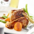 Apricot chicken — Stock Photo
