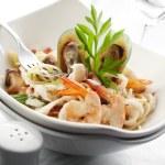 Spaghetti carbornara — Stock Photo