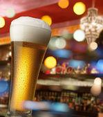 Beer at bar counter — Stock Photo