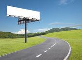 Por el camino de la cartelera — Foto de Stock