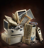 Old computers — Stock Photo