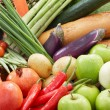 Healthy foods background — Stock Photo