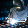 Stock Photo: Welding in workshop