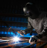 Welder working — Stock Photo