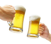 Toasting with beers — Stock Photo