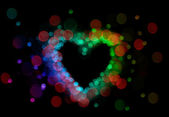 Defocussed lights heart — Stock Photo