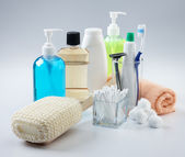 Assorted toiletries — Stock Photo