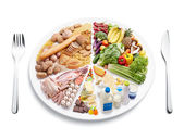Bilancia dieta — Foto Stock