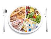 Gleichgewicht ernährung — Stockfoto