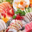 Sashimi background — Stock Photo