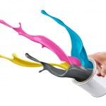 CMYK paint splash — Stock Photo