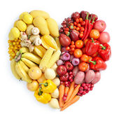 Yellow and red healthy food — Stock Photo