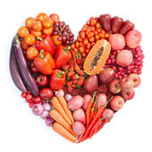 Red healthy food — Stock Photo