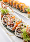 Spider roll maki — Stock Photo