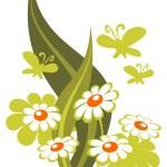 Flowers and butterflies — Stock Vector #10019624