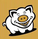 Kreskówka świnia — Wektor stockowy