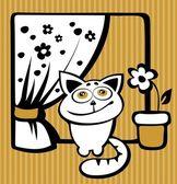 Happy cat — Stock Vector