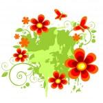Flowers and butterflies — Stock Vector #10271739