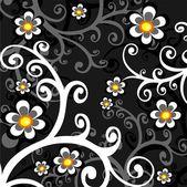 Dark floral background — Stock Vector