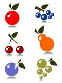 Meyve seti — Stok Vektör