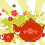 Herbal tea — Stock Vector