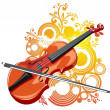 Violin and abstract pattern — Stock Vector