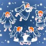 Christmas angels — Stock Vector