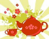 Herbal tea — ストックベクタ