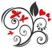 Romantický vzor — Stock vektor