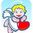 Angel with heart — Stock Photo #10611904